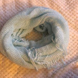 baby blue circle scarf